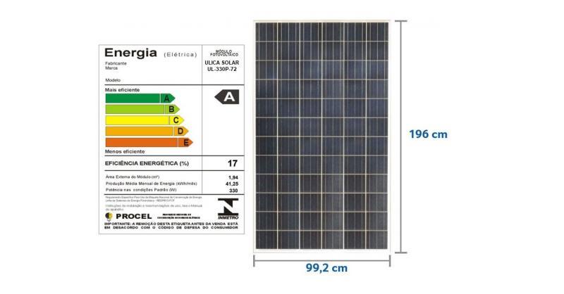 PAINEL SOLAR 330W POLICRISTALINO - ULICA SOLAR